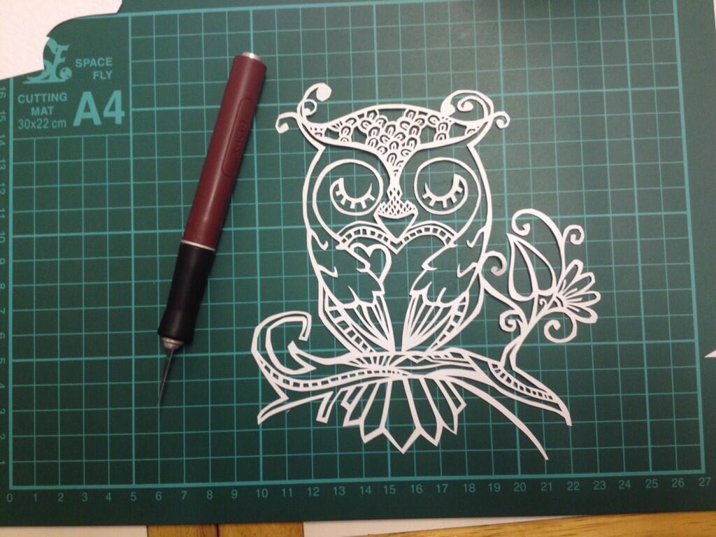 Owl Template Papercutting pdf